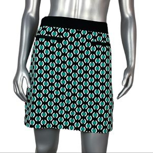 Worthington | Black & White Geometric Print Skirt